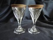 Kristallen Glazen met Vergulde rand
