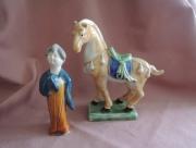 Chinese Dame en Paard