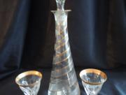 Kristallen Karaf, stopper en glazen