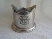 Flessen Onderzetter van zilver tin