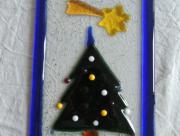 Kerst Raamhanger van Glas 21 x 13 centimeter