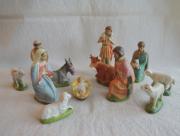 Kerststal beeldjes van bisquit porselein