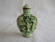 Groen Lak Snuff Bottle / Parfum Flesje